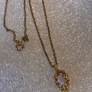 Opal necklace gold filled